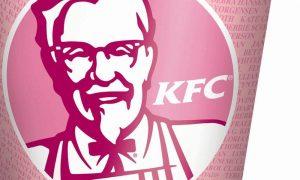 kentucky fried chicken pink bucket for breast cancer awareness