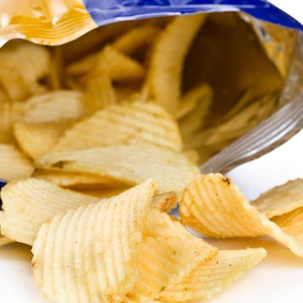 frit-o-lay bag of potato chips spread in front of bag