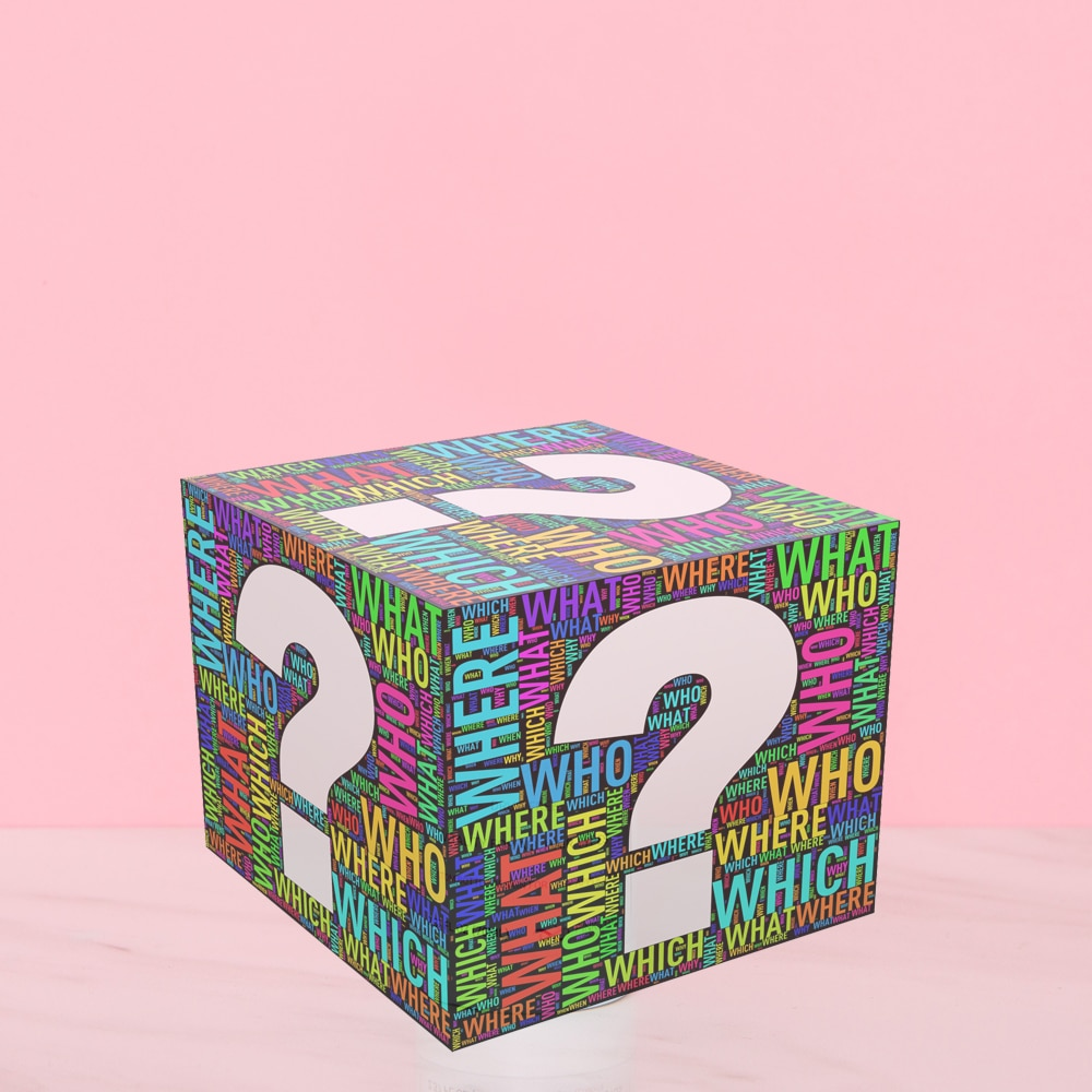 surprise box with questionmark