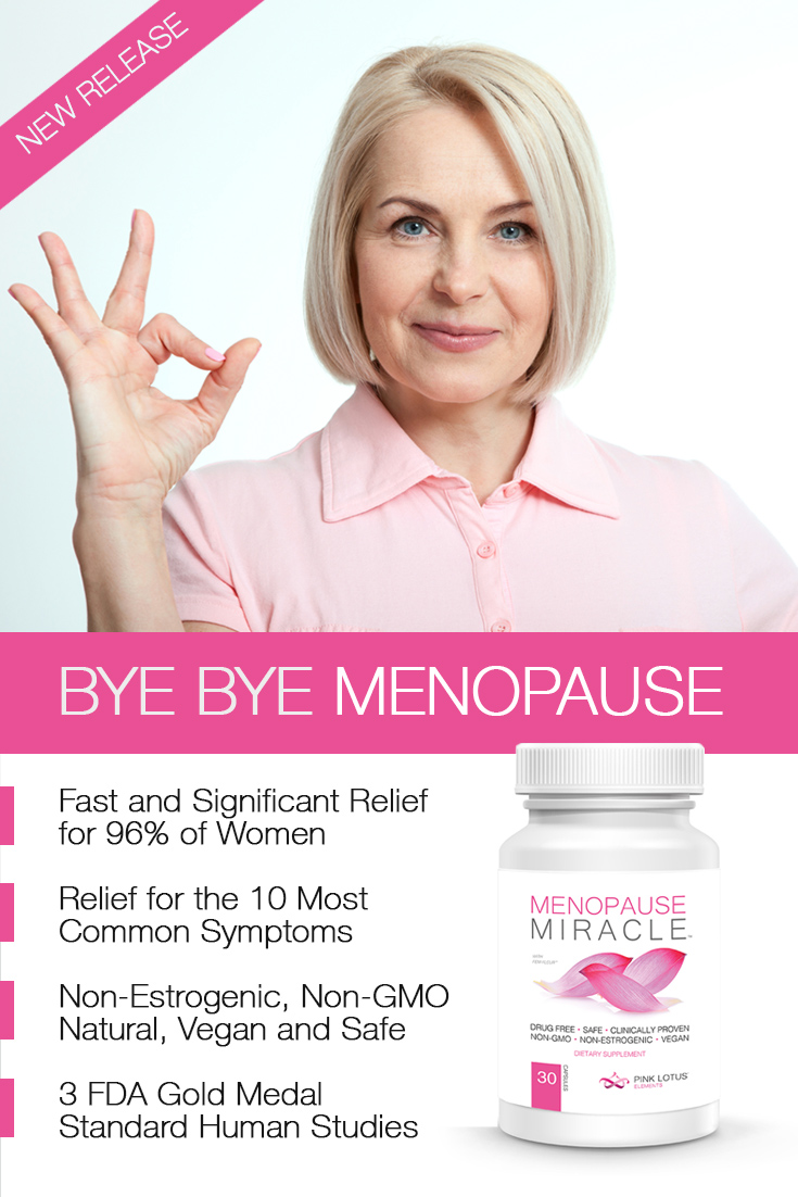 Safe, Drug Free, Non-Estrogenic & Clinically Proven #Menopause and Peri-Menopause Relief in as fast as 7-10 Days! Significant Relief for 96% of Women in 3 randomized human studies. FDA Reviewed. 6x faster than Black Cohosh. #MenopauseMiracle