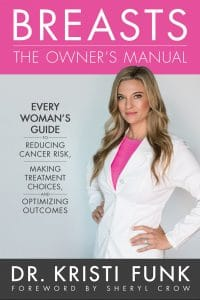 front cover of dr kristi funk's book entitled breasts the owner's manual