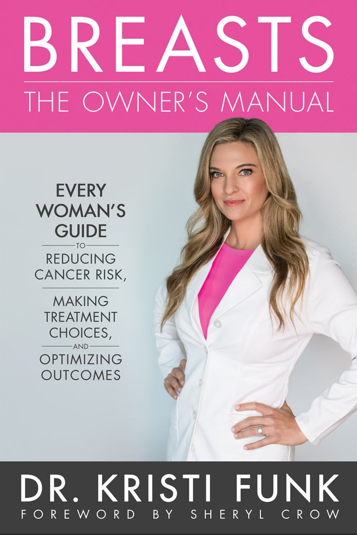 The #1 Amazon Best Seller by renowned breast cancer surgeon @drkristifunk with a foreword from @sherylcrow. Every Woman's Guide to Reducing Breast Cancer Risk, Making Treatment Choices, and Optimizing Outcomes! Available in over 10 countries. #BreastManual