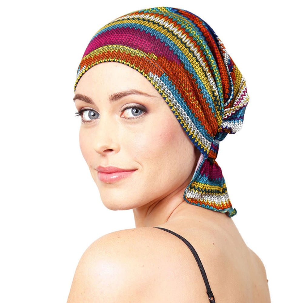 Chemo Beanies® - Headwear Covers for Hair Loss ~ Pink Lotus Elements 20670983869