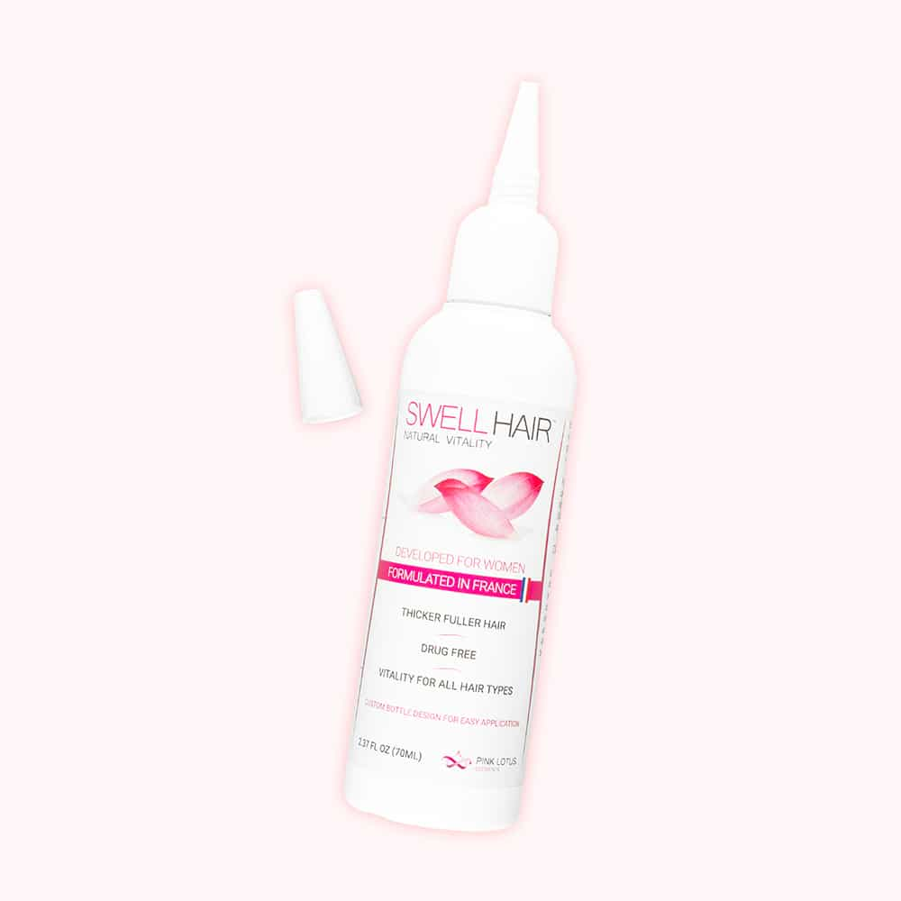 swell hair serum front bottle view