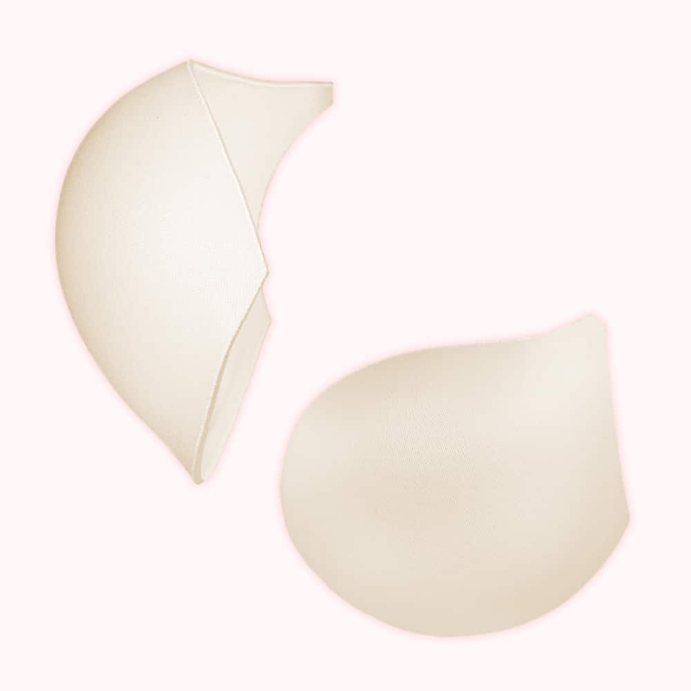 foob inserts in champagne color front and side view