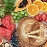 assortment of foods rich in fiber