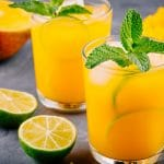 cancer kicking kitchen mango mule with mint and lime