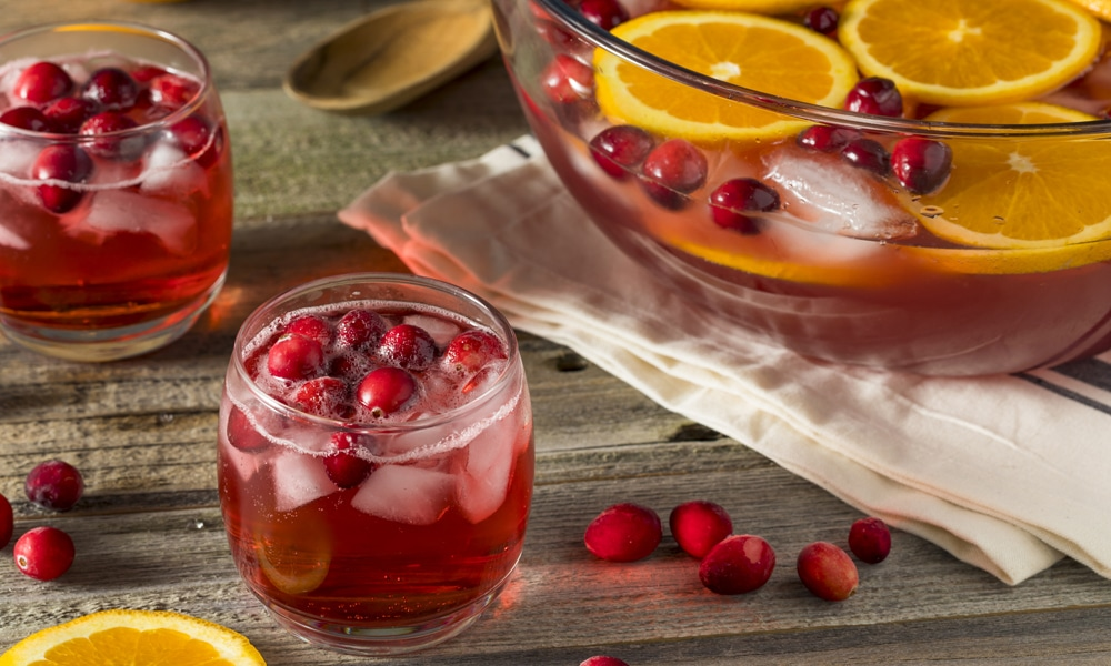 cancer kicking kitchen parade punch with cranberries and oranges
