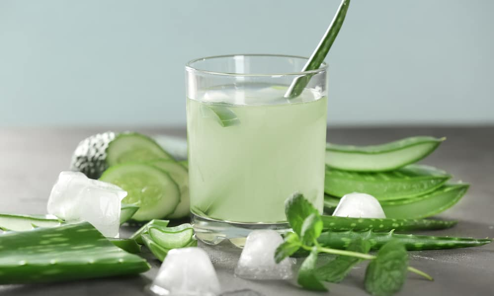 cancer kicking kitchen cucumber coco aloe cleanser with garnish
