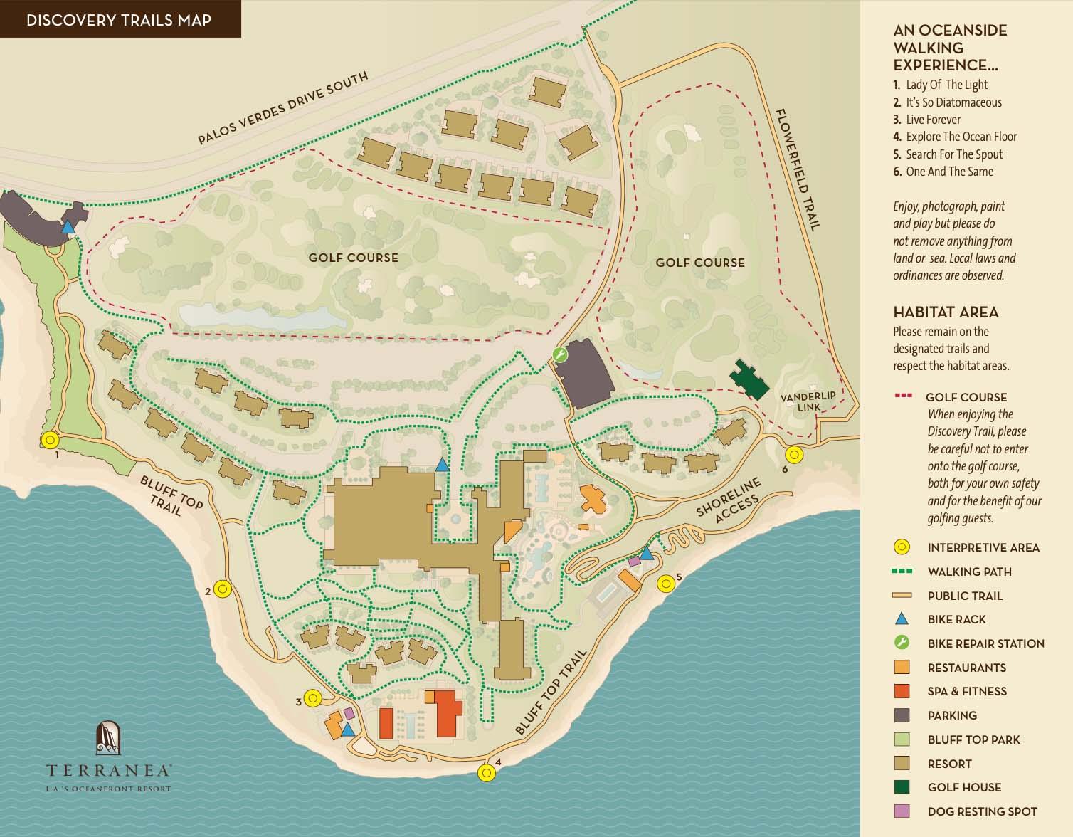 discovery map of terranea resort