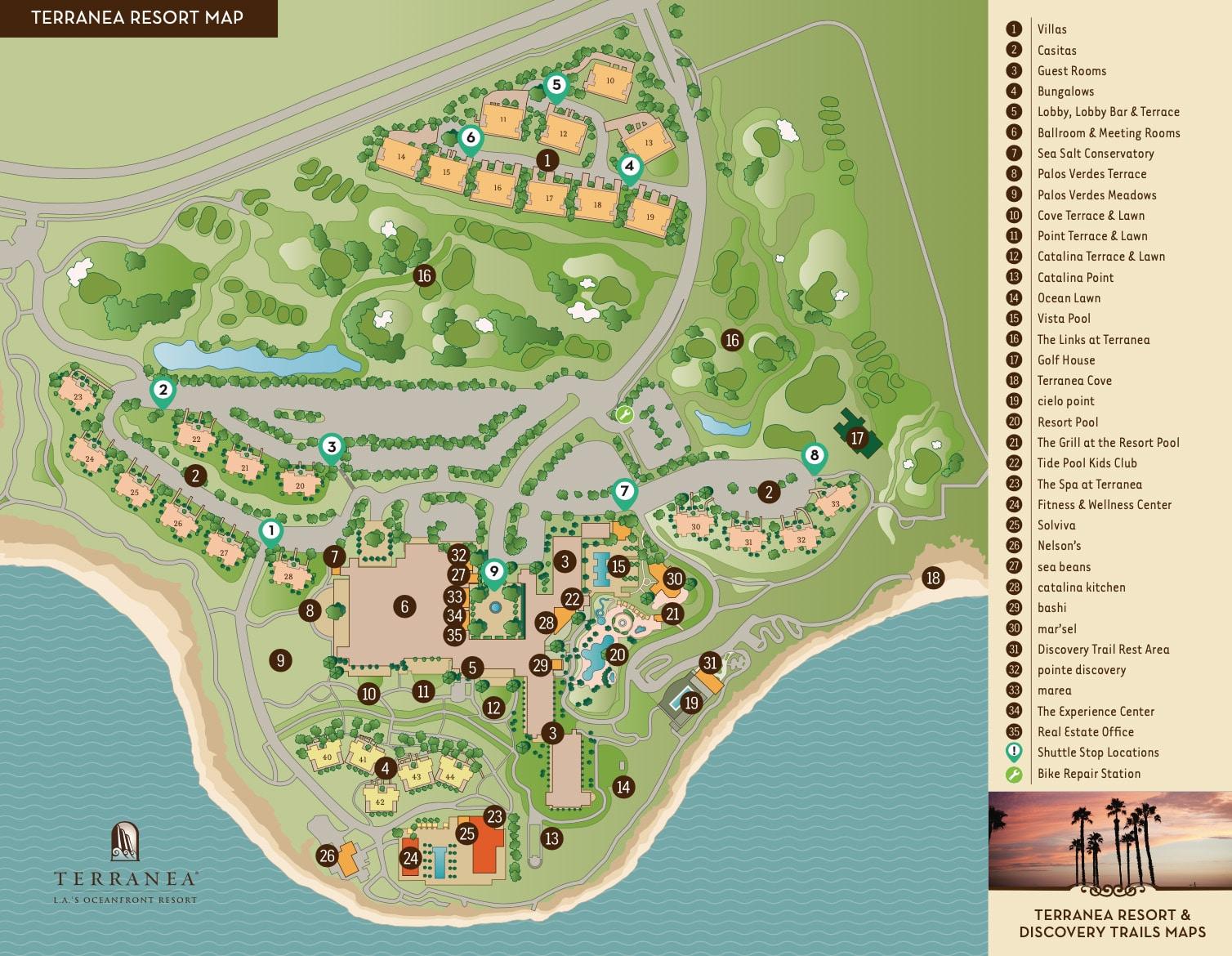 resort map of terranea