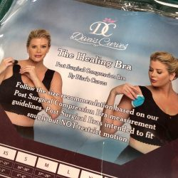 The Healing Bra: Post Surgical Compression Bra by Diva's Curves (Black, Size 3XL)