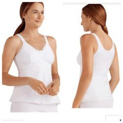 Hannah Breast Surgery Recovery Camisole - White XS